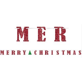 【クリスマス】メリークリスマス リボンバナー ガーランド レターバナー 【Christmas】