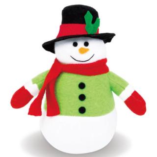 【クリスマス】プラッシュ オーナメント スノーマン 雪だるま  クリスマスツリー飾り 【Christmas】