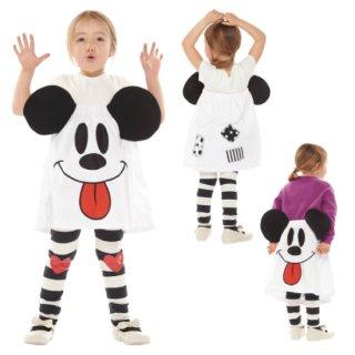 【子供用】コスチューム   仮装  チャイルド ゴーストミッキースカート  【Disney Mickey】