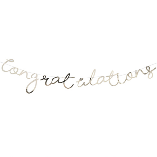 【Ginger Ray】レターバナー Congratulations ゴールド