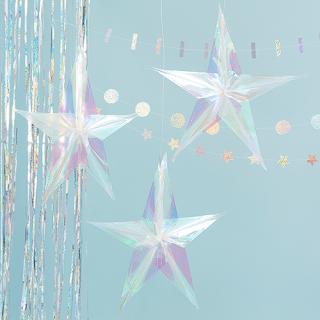 【Ginger Ray】ホログラフィック スターデコレーション