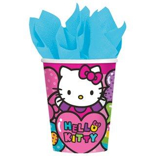 ペーパーカップ 9oz ハローキティレインボー 【Hello Kitty】
