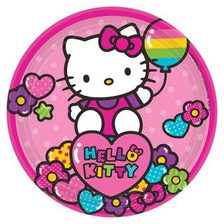ペーパープレート 7インチ ハローキティレインボー 【Hello Kitty】