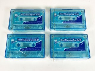 NAGAOKA カセットデッキ用 ヘッドクリーニングテープ 4本 [24830]