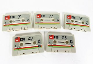 BASF C90 LH カセットテープ 5本 保証外品 [24925]