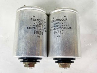 FRAKO(EIKO)5000MFD 70/80V 電解コンデンサー 2個 [25215]