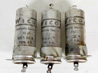 WICON 電解コンデンサー 32MFD 500V 3個 [25557]