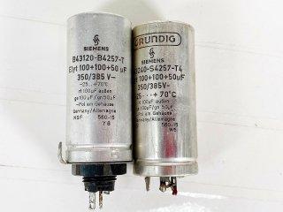 SIEMENS 電解コンデンサー 100MFD+100MFD+50MFD 385V 2個 [25559]