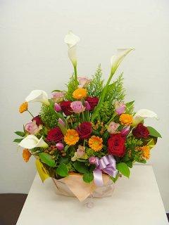 店内周年祝い花