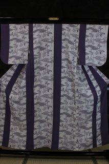 一越小紋 袖丸み