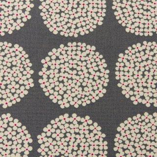 【cotton canvas】北欧風サークルブーケ×10番コットンキャンバス|グレー|