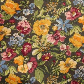 【コットンオックス】classic flower |YUWA|ダークブラウン|