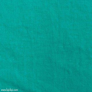 【cotton linen】こだわりのくったりしたハーフリネン×タンブラーワッシャー|ハーフリネンシーチング|エメラルドグリーン|