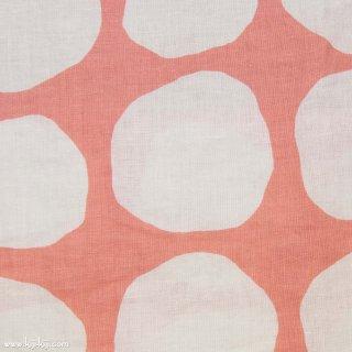 【linen】くったりリネンの北欧風デザインドット|水玉柄|ピンク|