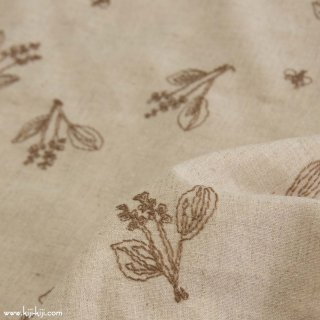 【pricedown】【cotton linen】botanical lace×cotton linen sheeting|スズラン|ベージュ|<img class='new_mark_img2' src='https://img.shop-pro.jp/img/new/icons41.gif' style='border:none;display:inline;margin:0px;padding:0px;width:auto;' />
