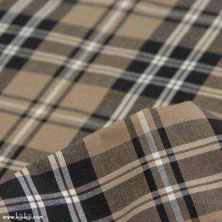 【cotton】秋色の先染めチェック 40/1ハイカウントチェック アパレル使用 タータンチェック 