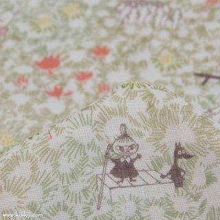 【wg】Moomin fabrics|わた花|コットンダブルガーゼ|オフホワイト|