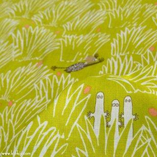 【cotton linen】Moomin fabrics|かくれんぼ|コットンリネンシーチング|グリーン|