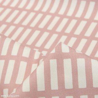 【コットンオックス】ニュアンスカラーのけん盤ストライプ|スモークピンク|