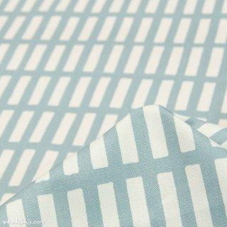 【コットンオックス】ニュアンスカラーのけん盤ストライプ|スモークブルー|