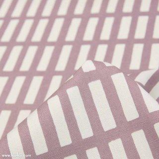 【コットンオックス】ニュアンスカラーのけん盤ストライプ|グレーピンク|