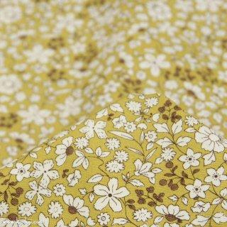 【cotton】スモーキーカラーのシンプルブーケ|コットンブロード|小花柄|スモークマスタード|