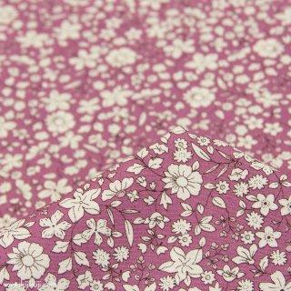 【cotton】スモーキーカラーのシンプルブーケ|コットンブロード|小花柄|スモークプラム|