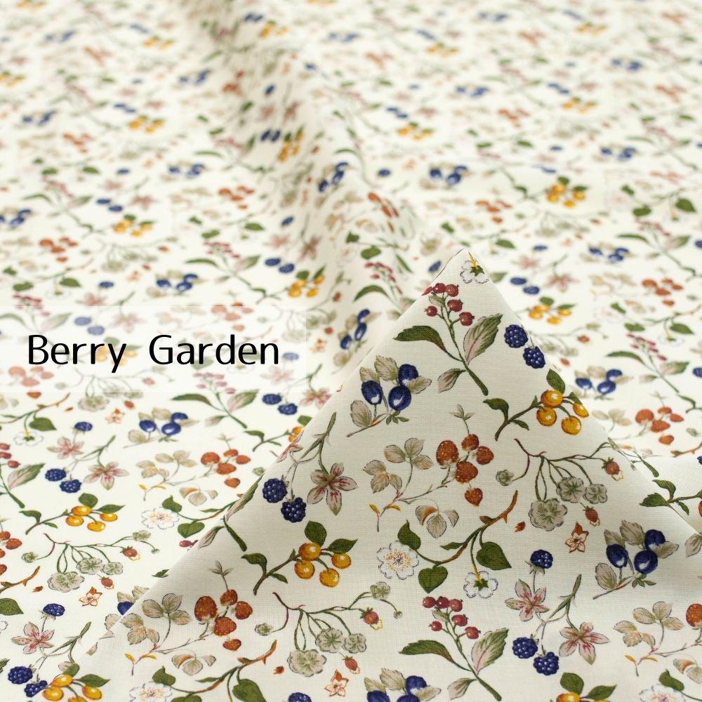 【cotton】Berry Garden|コットンスケア|ベリー柄|イチゴ|ウォーム|