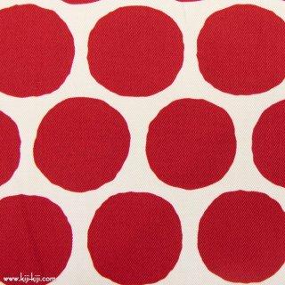 【Cotton twill】Stamp Polka dot|コットンツイル|約5センチドット|レッド|