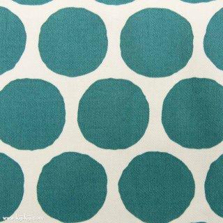 【Cotton twill】Stamp Polka dot|コットンツイル|約5センチドット|グリーン|
