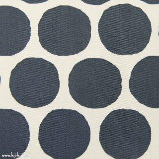 【Cotton twill】Stamp Polka dot|コットンツイル|約5センチドット|グレー|