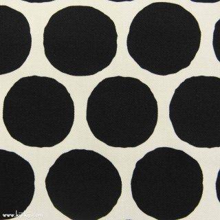 【Cotton twill】Stamp Polka dot|コットンツイル|約5センチドット|ブラック|
