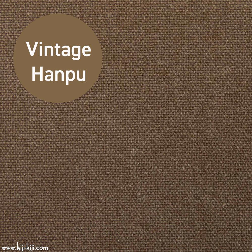 【8号帆布】スモーキーカラーのヴィンテージ8号帆布|ウォッシュ加工|ブラウン|