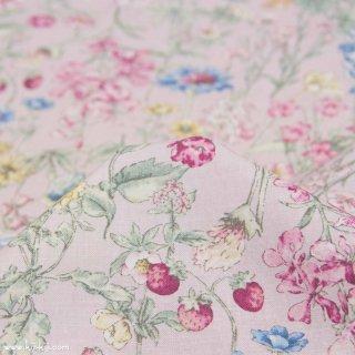 【cotton】English Flower Garden|コットンスケア|花柄|スモークピンク|
