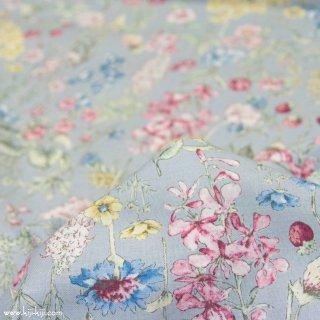 【cotton】English Flower Garden|コットンスケア|花柄|グレー|