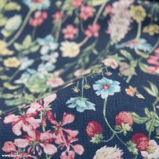 【cotton】English Flower Garden|コットンスケア|花柄|ネイビー|