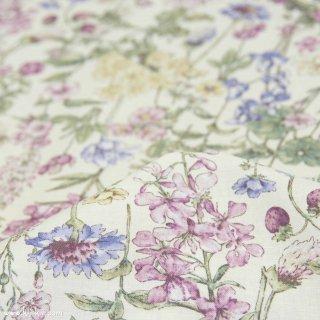 【cotton】English Flower Garden|コットンスケア|花柄|オフホワイト×スモークパープル|