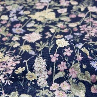 【cotton】English Flower Garden|コットンスケア|花柄|ネイビー×スモークパープル|