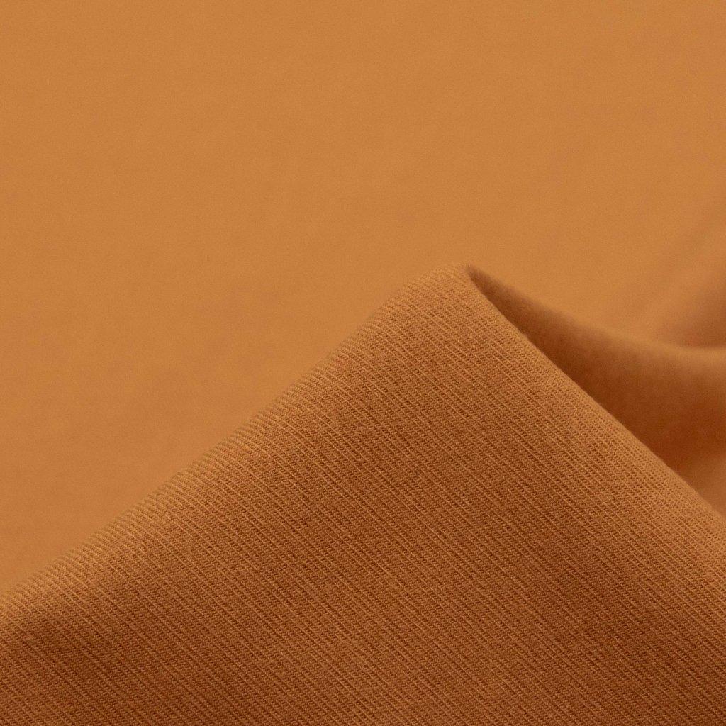 【2020-2021】やわらかく仕上げたコットンビエラのピーチ起毛|ワッシャー加工|ベイクドオレンジ|
