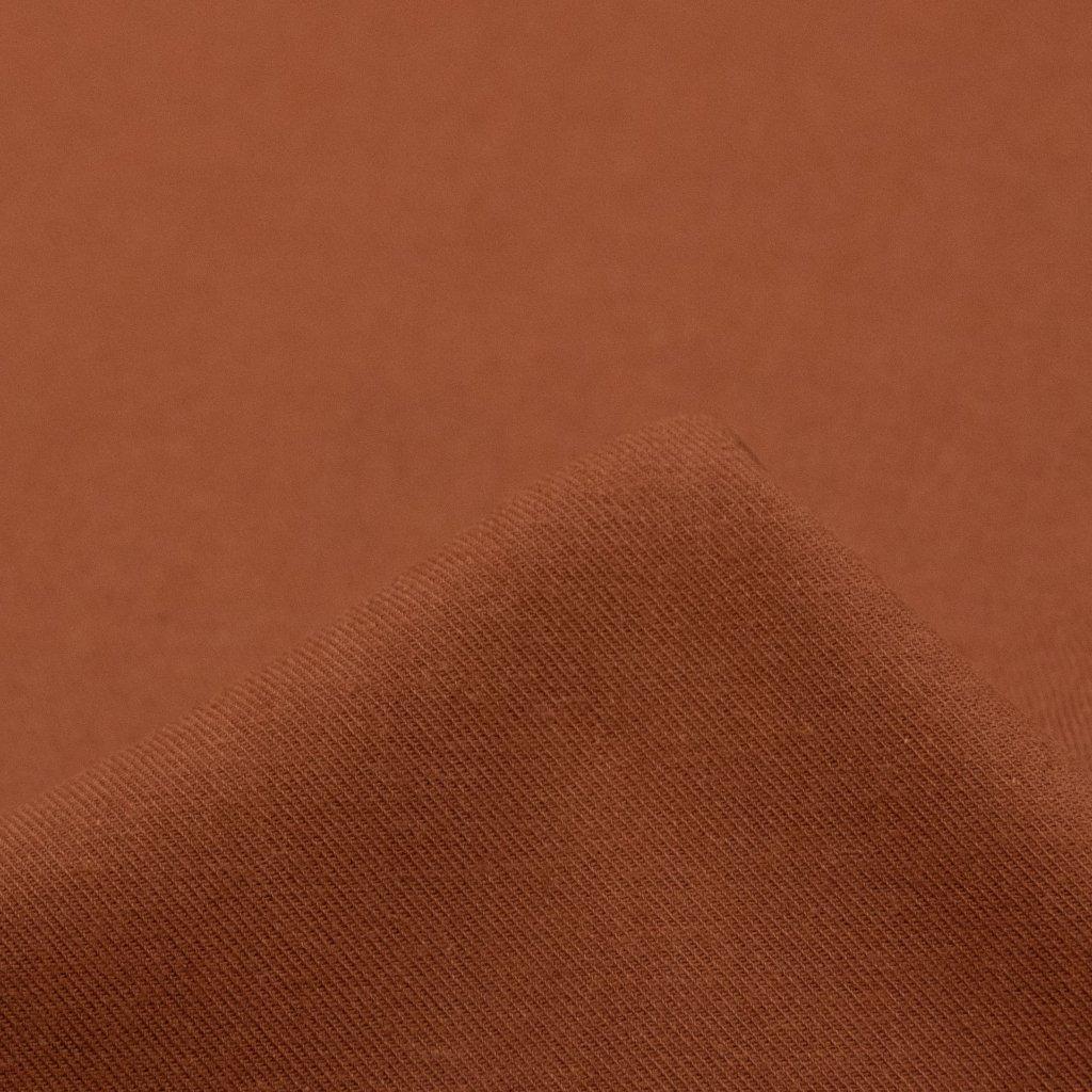 【2021-2022】やわらかく仕上げたコットンビエラのピーチ起毛 ワッシャー加工 テラコッタ 