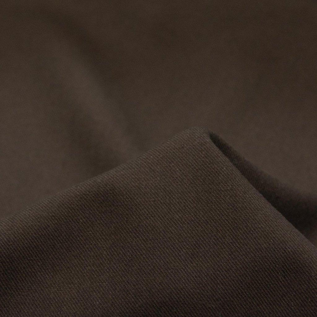 【2020-2021】やわらかく仕上げたコットンビエラのピーチ起毛|ワッシャー加工|ディープブラウン|