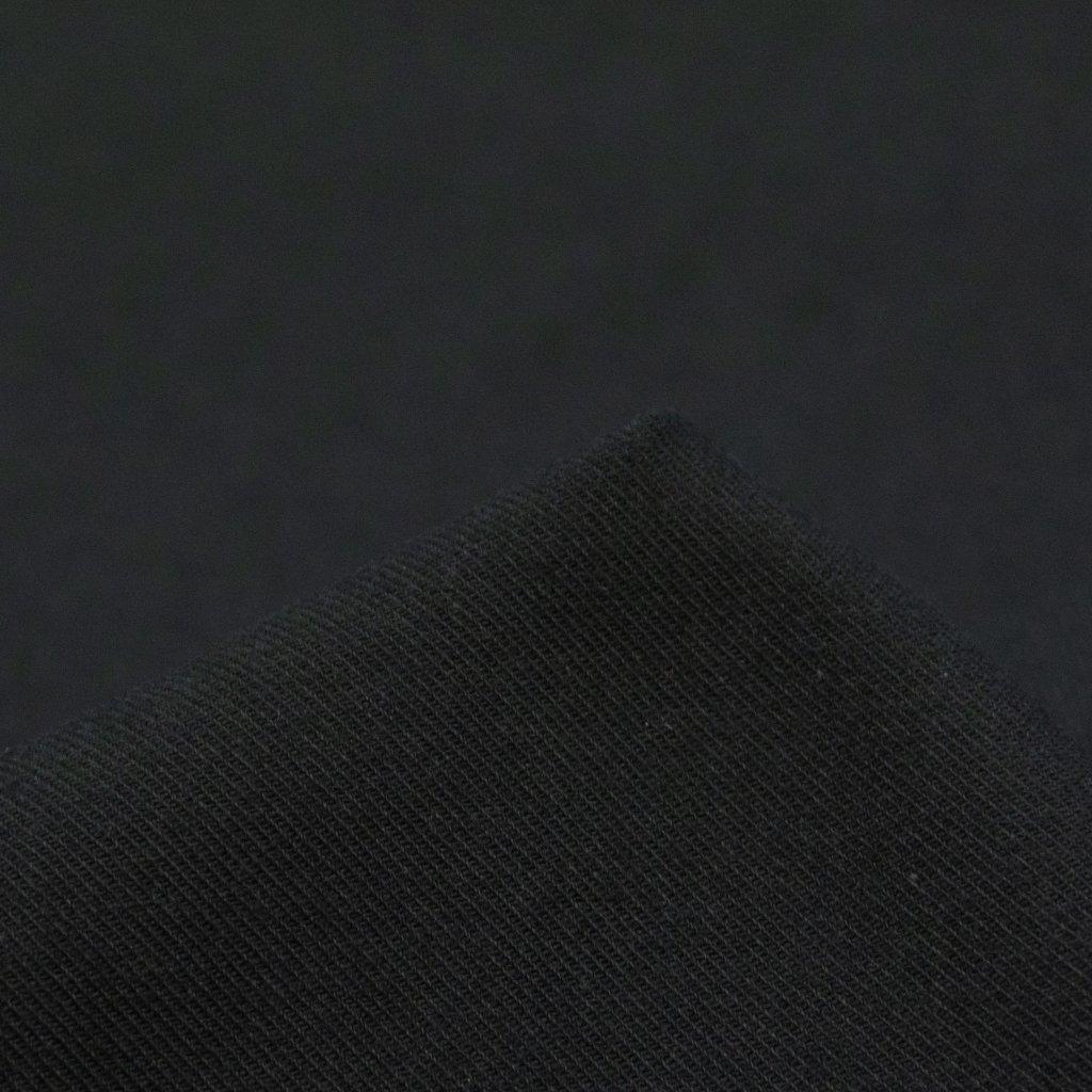 【2020-2021】やわらかく仕上げたコットンビエラのピーチ起毛|ワッシャー加工|ブラック|