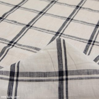 【sale】【linen】Linen check|60リネンタンブラーチェック|オフホワイト|<img class='new_mark_img2' src='https://img.shop-pro.jp/img/new/icons20.gif' style='border:none;display:inline;margin:0px;padding:0px;width:auto;' />
