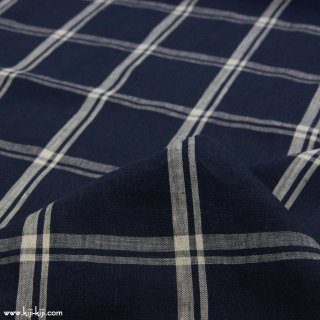 【sale】【linen】Linen check|60リネンタンブラーチェック|ディープネイビー|<img class='new_mark_img2' src='https://img.shop-pro.jp/img/new/icons20.gif' style='border:none;display:inline;margin:0px;padding:0px;width:auto;' />