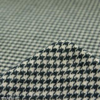 【cotton tweed】コットンで織ったハリスツイード風チェック|コットンツイード|千鳥格子|ホワイトブラック|