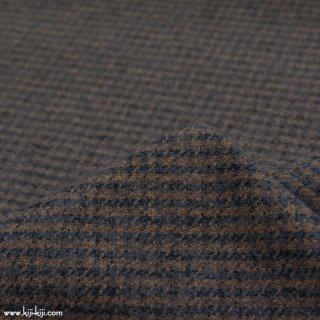 【cotton tweed】コットンで織ったハリスツイード風チェック|コットンツイード|千鳥格子|ブラウン|