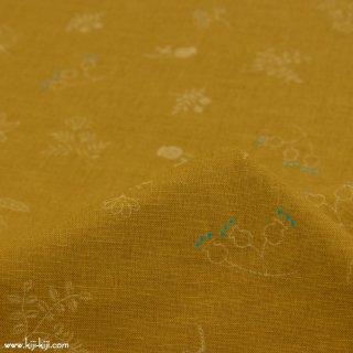 【cotton linen】stitch botanic|ステッチボタニック|コットンリネンシーチング|マスタード|