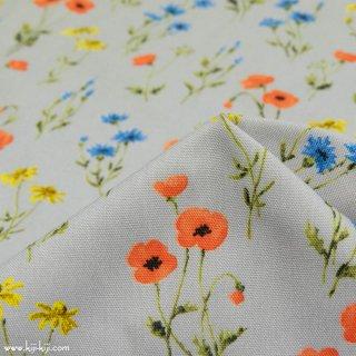 【コットンオックス】in bloom garden×cotton oxford|ライトグレー|