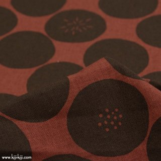 【cotton linen】polka dot|ポルカドット|水玉|コットンリネンシーチング|ブラウン|