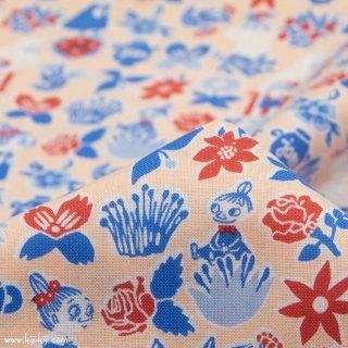 【cotton】Moomin fabrics|ムーミン|コットンシーチング|ペールオレンジ|